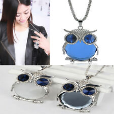 Lovely Owl Rhinestone Crystal Animal Long Sweater Necklace Pendant Chain Jewelry