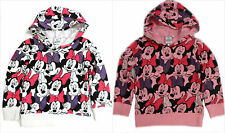 DISNEY MINNIE MOUSE JUMPER SWEATER HOODIE TOP AGE 2-8Y OFFICIAL DISNEY