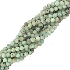 Jewelry DIY Making 4/6/8mm Natural Sesame Jasper Round Gemstone Beads Strand 15""