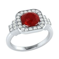 1.05 ct Natural Ruby & Certified Diamond Solid Gold wedding Engagement Ring