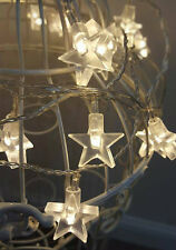 30x WARM WHITE STAR CHRISTMAS/WEDDING STRING LIGHTS FOR INDOOR OR OUTDOOR USE
