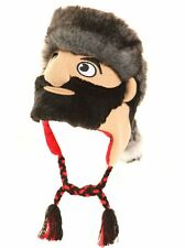 Mens Fancy Dress Novelty Knitted Peru Face Hat in One Size