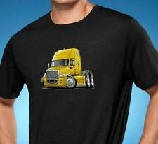 Freightliner Cascadia Semi Truck Cartoon Tshirt NEW FREE SHIPPING