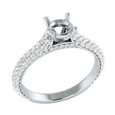 5.4mm Semi Mounting 0.91 ct Certified Diamond Solid Gold Wedding Engagement Ring