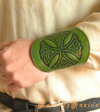 Medieval Tribal LARP Viking Armor Celtic Cross Design Stamps Leather Cuff Bracer