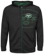 New York Jets NFL Mens Majestic Coverage Sack Hoodie Black Big & Tall Sizes