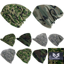 Plain Beanie Cap Ski Hunting Camo Visor Hat Tactical Hiking Military Army Caps