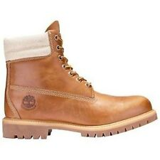 "Timberland 158H Mens Sizes Waterproof 6"" Inch Wheat Canvas Double Sole Boots"