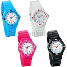 Fashion Super Womens Jelly Silicone Sports Watch Students Analog Wrist Watches
