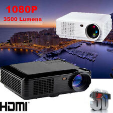3500Lumens LED Projector Home Theater USB TV 3D HD 1080P Business VGA/HDMI lot