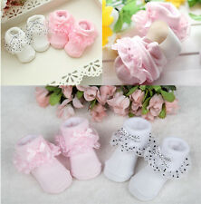Dots Bowknot Lace Socks Princess Ankle Socks Toddler Baby Girls Cozy Cotton Hot