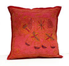 A Sequin Embroidery Ethnic Indian Elephant USA Pillow Cushion Cover