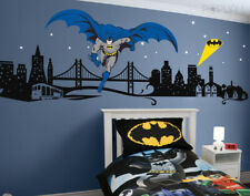Batman Wall decal Super Hero Cityscape - Dark Knight Wall sticker for Kids Room