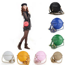Women Bags Tassel Small Leather Crossbody Bags Candy colors Lady Handbags 026a