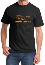 Ford Mustang SVT Classic Design Logo Black Tshirt NEW FREE SHIPPING