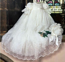 Custom Baby Girl Communion Dress Lace  Baptism Christening Gown Size0-24m Bonnet