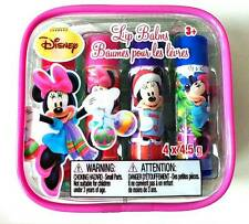 NEW Dora, Disney Princess, Strawberry, Minnie Mouse 4pc Candy Flavored Lip Balm