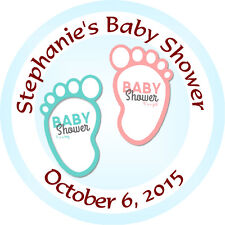 Personalised 37mm Baby Shower Stickers Labels Party Thank You Seals - L915