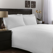 800 1000 1200 1500 Thread Count Hotel White Duvet Fitted & Sheet Set 100% Cotton