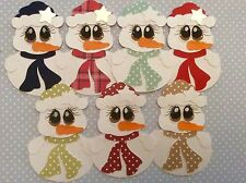 Set of 2 Cute Penguins with Hat & Scalf with Star Christmas Card Toppers