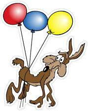 Wile E. Coyote with Balloons Road Runner Cartoon Vinyl Sticker Decal