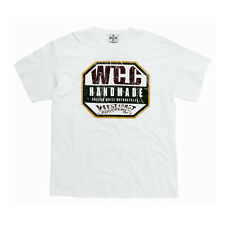 WEST COAST CHOPPERS INDUSTRY T-SHIRT, OIL DYE WHITE **100% GENUINE**