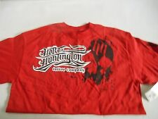 Hart And Huntington Fallen Short Sleeve Tee Red & Black New In Stock 49621