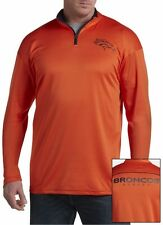 Denver Broncos NFL Mens Majestic 2 Sided 1/4 Zip Fleece Shirt Big & Tall Sizes