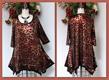 Designer, Plus size top, Lagenlook, boho, High end Fabric Tunic with Scarf