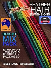 Feather Hair Extension Pack Wholesale High Quality 100% Real Feathers Beads Kits