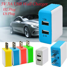 3A 2 USB Port AC Wall Charger Adapter Travel Fast Charger US/EU Plug For Iphone