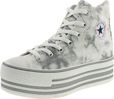 Maxstar Women's C50 7 Holes Platform Canvas High Top Printed Sneakers