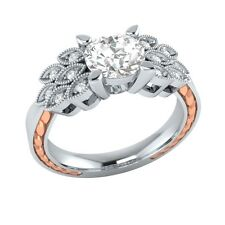 0.85 ct Natural Topaz & Certified Diamond Solid Gold Wedding Engagement Ring
