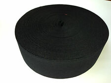 25 METRE ROLL BLACK ELASTIC 63mm WIDE (B6021) BRITISH MADE