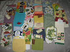 Colorful Kitchen Towels Dishcloths Oven Mitts Pot Holders Cook Clean NEW!