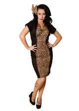New Rockabilly Wiggle Dress, Sexy & Flattering,Leopard Print, STUNNING, XS-L