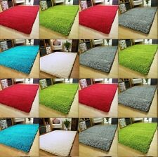 SMALL  LARGE SIZE THICK PLAIN SOFT SHAGGY RUG NON SHED PILE MODERN RUGS CARPET