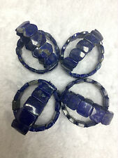 Genuine Lapis Lazuli AA grade Fancyt stretch Bracelet bangle style