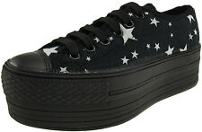 Maxstar Women's C50 6 Holes Platform Canvas Low Top Star Sneakers