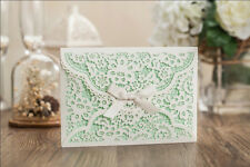 White Wedding Birthday Party Card Invitations Kit with Free Personlized Print