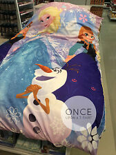 Primark DISNEY FROZEN Anna, Elsa & Olaf Bedding Duvet Cover & Pillow Set