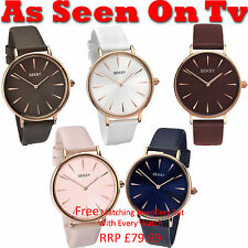 Sekonda Seksy Ladies Edit Collection Leather Strap Watch As Seen On TV RRP£59.99