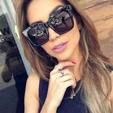 Large Oversized Square Sunglasses Women Fashion Thick Retro Frame Gradient Lens