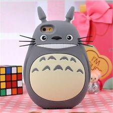 3D Cute Cartoon Totoro Designed Soft Silicone Case for iphone 4 5 6/6s 4.7 5.5