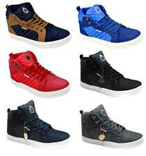 Twisted Faith 'Maverick' Men's High-Top Quilted Canvas Trainers