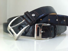 NEW GLAZED BROWN Real American Alligator crocodile leather Belt Only size 40 L