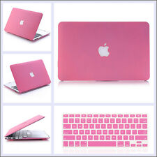Pink Quicksand Hard Case Cover + Keyboard Skin For Macbook Air Pro 11 12 13 15''