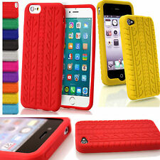 Rubber Grip Soft Silicone Tyre Tread Gel Case Cover For Apple iPhone