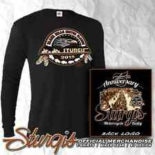 STURGIS MOTORCYCLE RALLY AND RACES OFFICIAL LOGO BLACK LONG SLEEVE T-SHIRT 75th