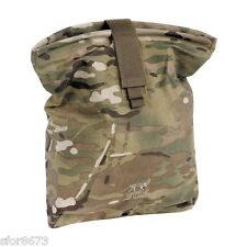 TASMANIAN TIGER LARGE ROLL UP DUMP POUCH CORDURA NYLON MULTICAM MOLLE / BELTS